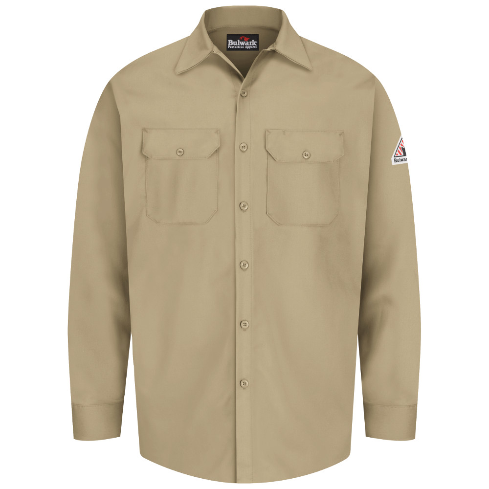 bulwark flame resistant button work shirt frc clothing