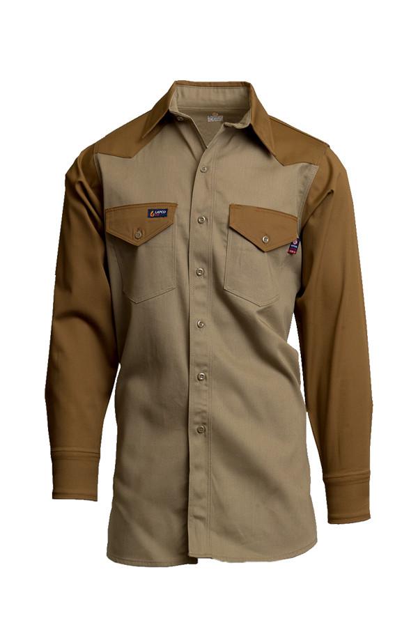 cc009362e73 Lapco FR Two-Tone Western Shirt - Khaki