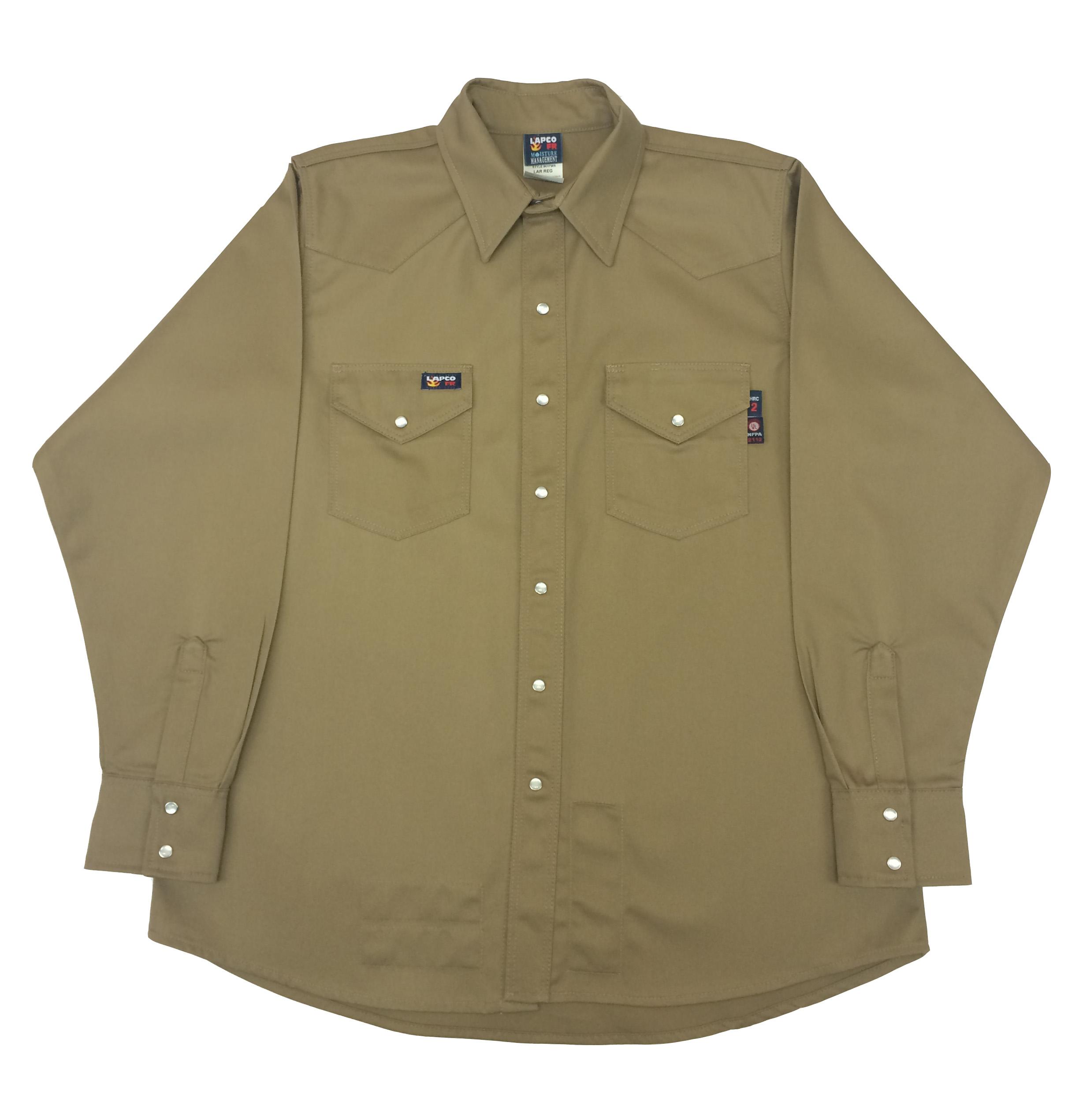 Lapco Fr Western Snap Shirt Khaki Ikh7ws