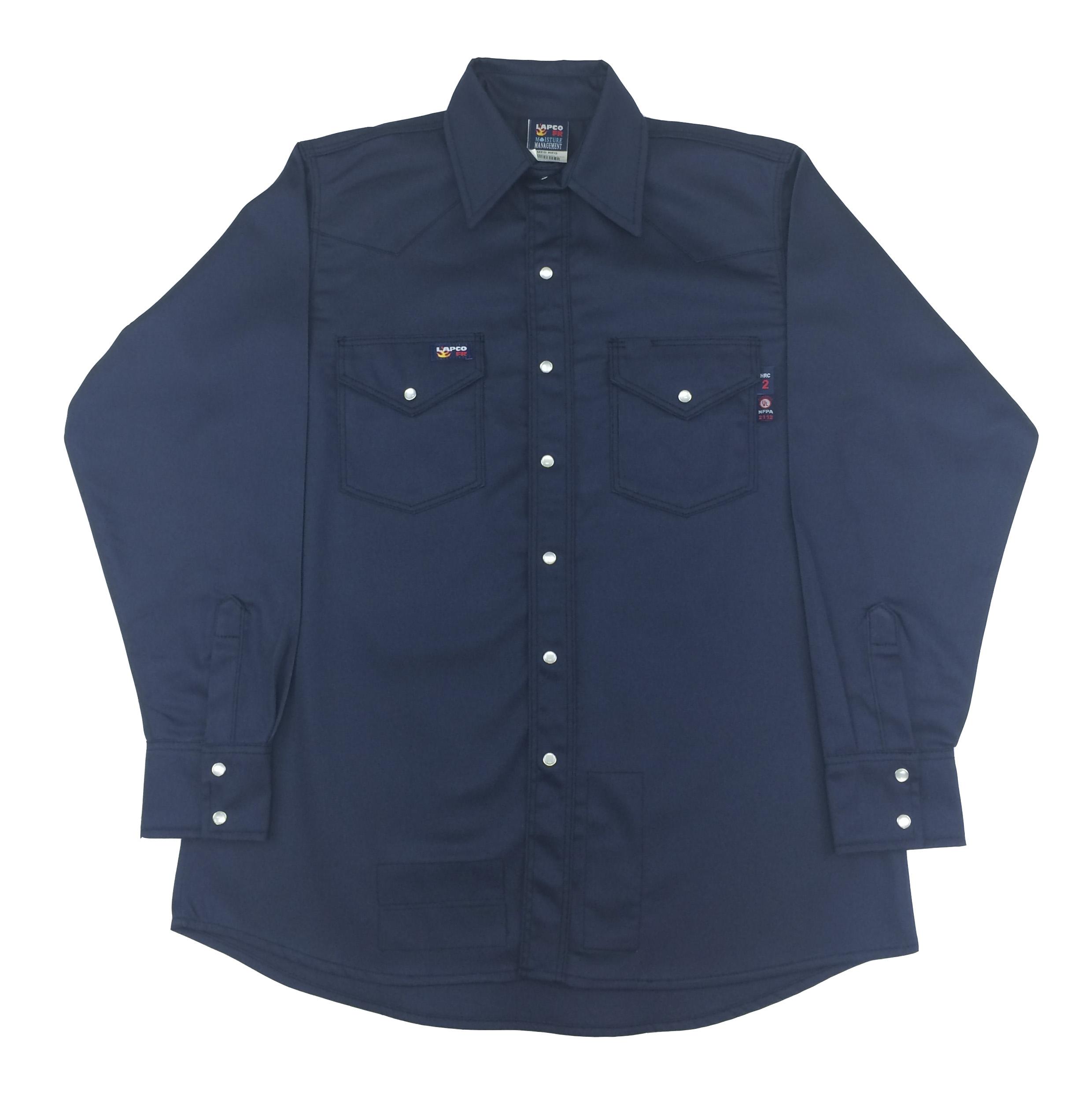 92dffc87abb2 Lapco FR Western Shirt w Snaps - Navy Lapco