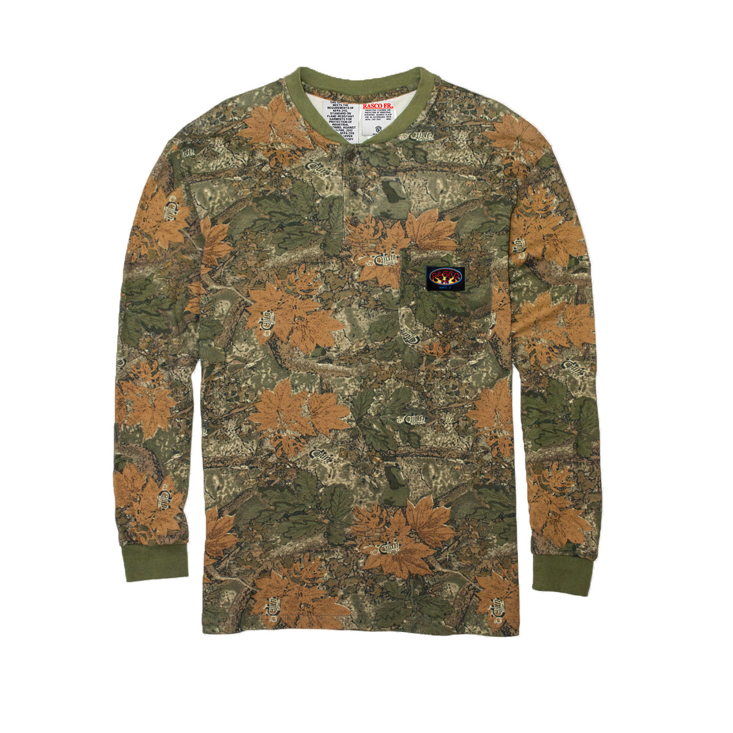 Camo Rasco Fr Henley Shirt Cmf458 Munro S Safety