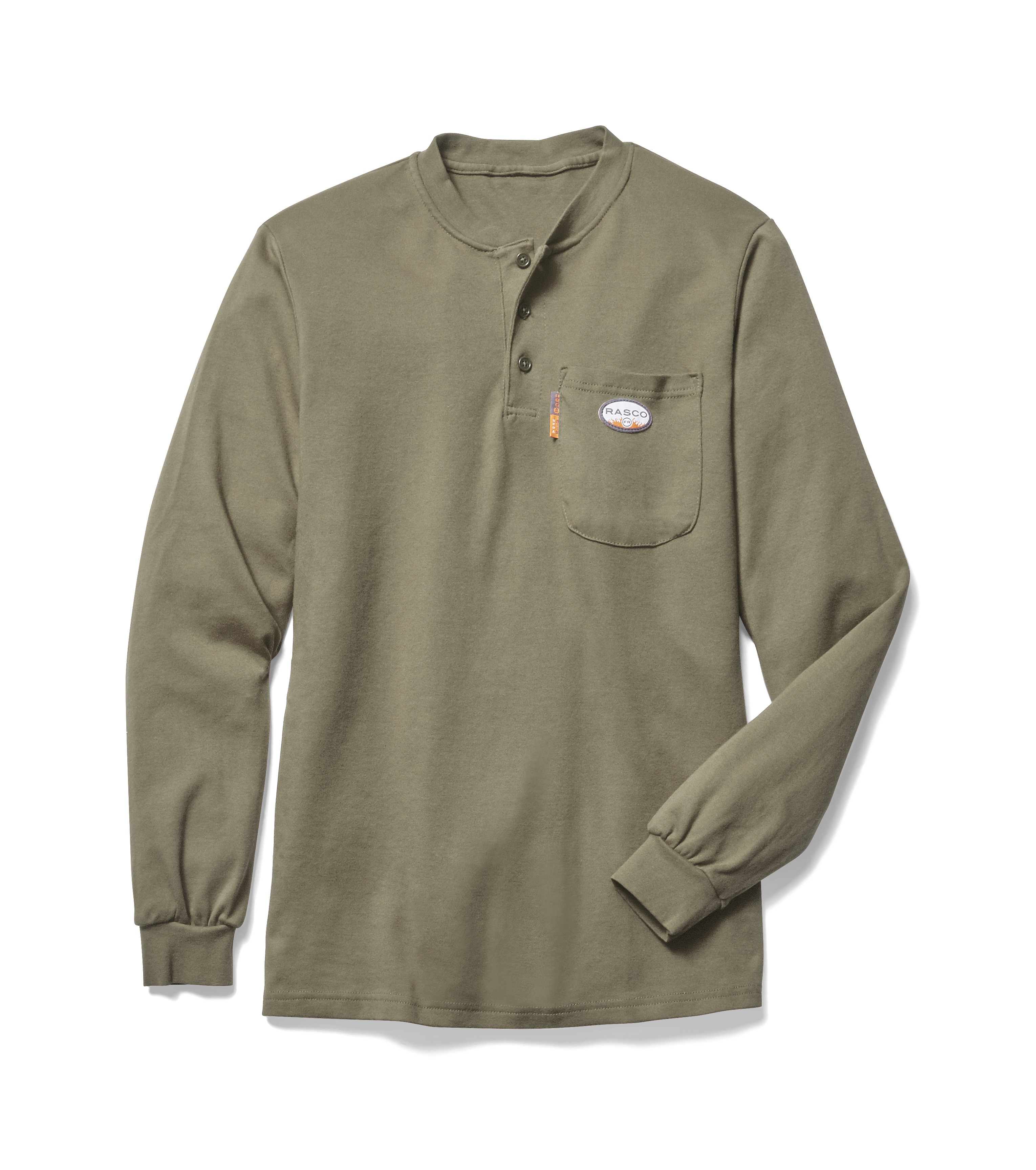 Rasco Arc Rated Khaki Henley Ktf452