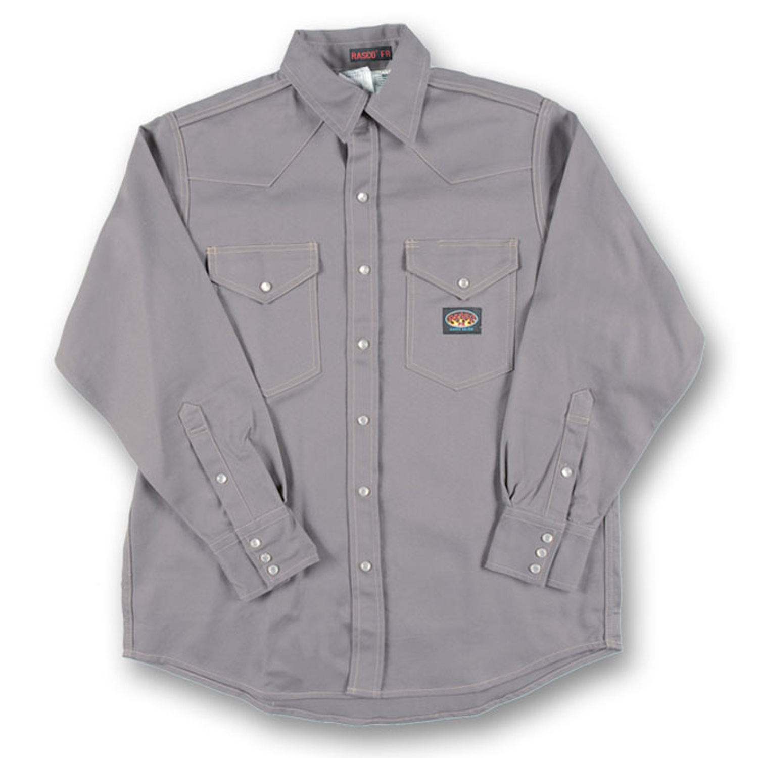 Fire resistant rasco lightweight gray shirt gr754 for Flame resistant work shirts