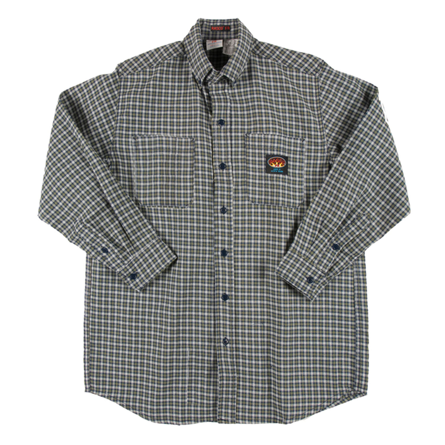 Mens Blue Plaid Shirt