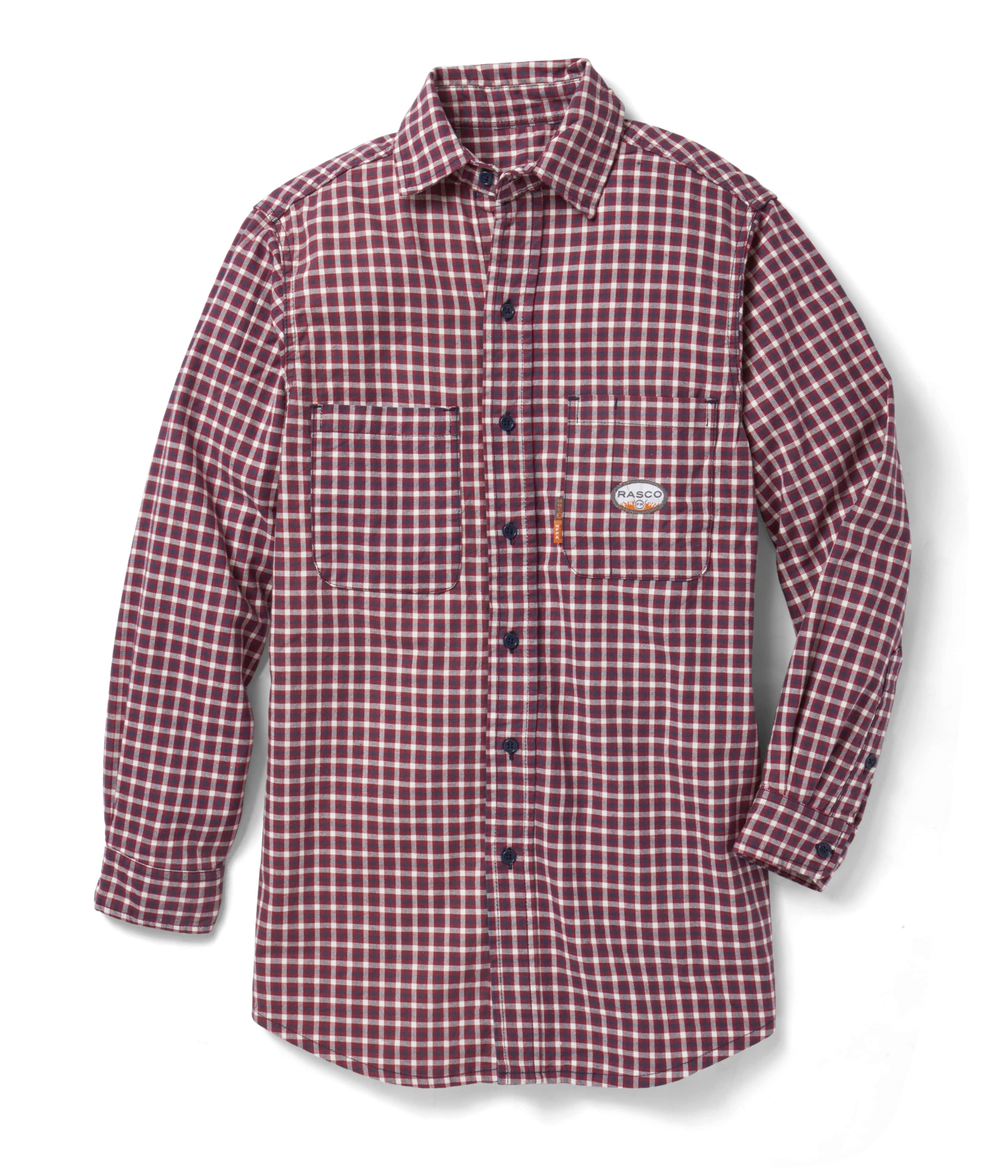 Red Plaid Flame Retardant Men S Rasco Shirt Plr756