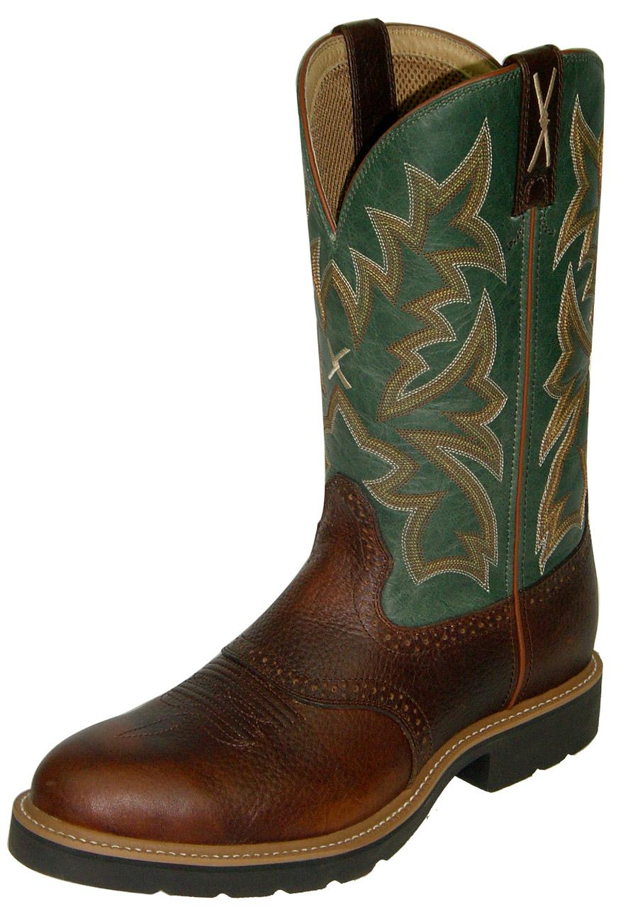Twisted X Green Western Men S Steel Toe Boots Msc0005