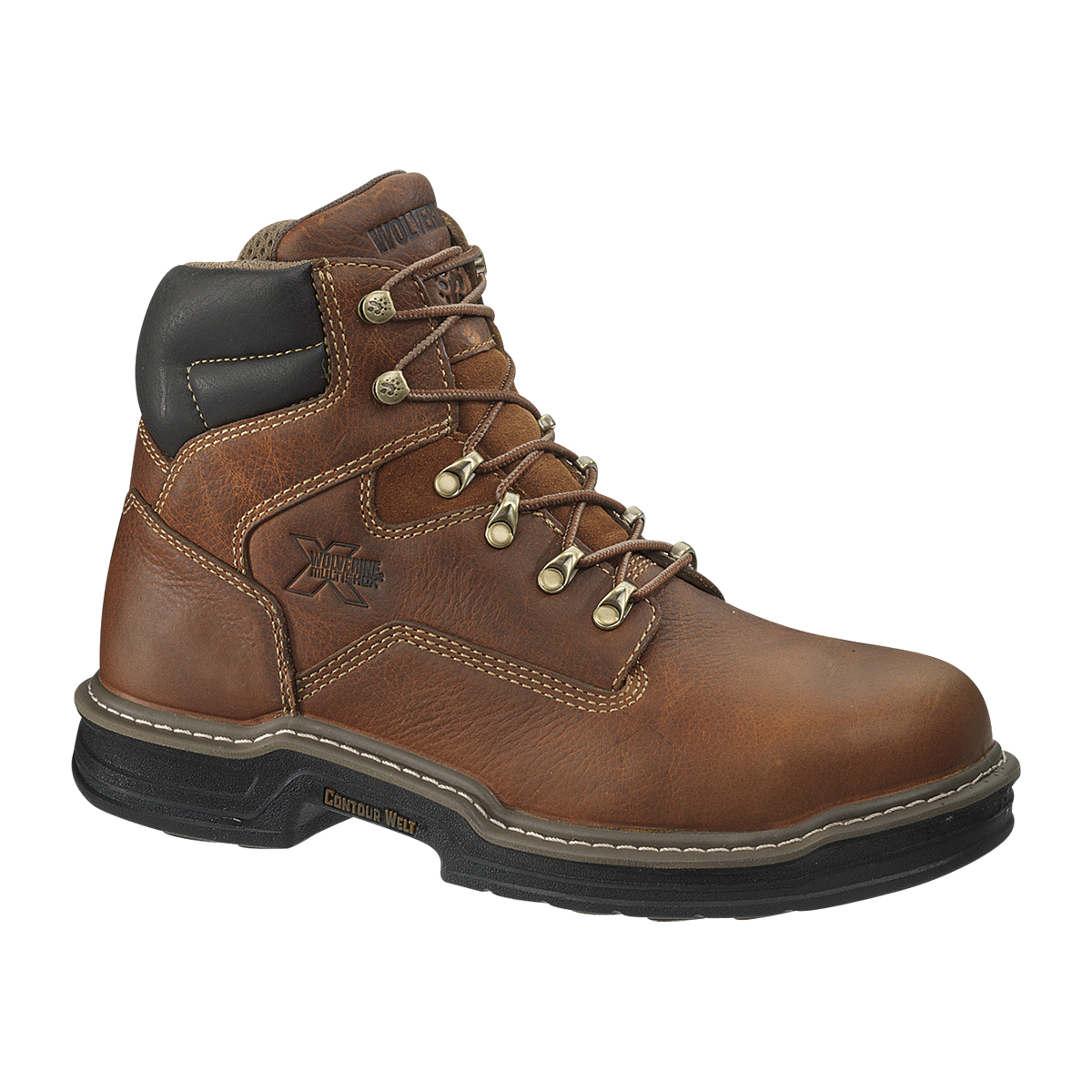 Wolverine Men's 6 Inch Steel Toe Lace Up Boots