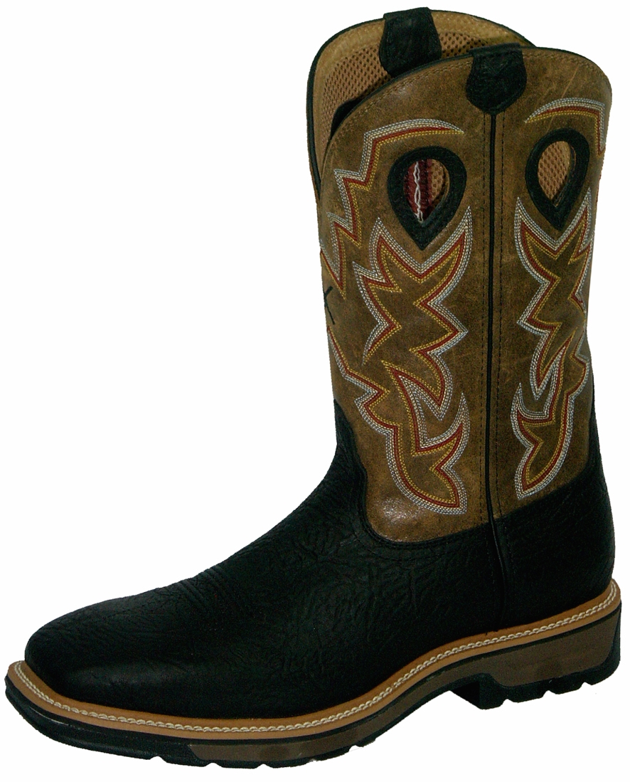Twisted X Cowboy Pull-On Work Boots | Steel Toe MLCS005