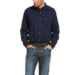 Ariat FR AC Work Shirt - Navy flame, fire, resistant, frc, retardant, long sleeve, button down,