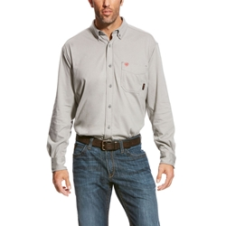 Ariat FR AC Work Shirt - Silver Fox flame, fire, resistant, frc, retardant, long sleeve, button down,