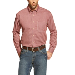Ariat FR Bell Work Shirt - Wine flame,resistant,retardant,plaid,gingham,red