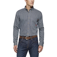 Ariat FR Blue Multi Plaid Work Shirt - Affirm