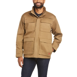 Ariat FR Canvas Stretch Jacket - Field Khaki tee, frc, flame, resistant, retardant, tan, brown, beige