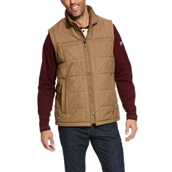 Ariat FR Crius Insulated Vest - Field Khaki flame, resistant, retardant, frc, cruise, cruis, brown, tan, beige