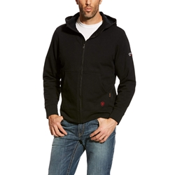 Ariat FR DuraStretch Full Zip Hoodie - Black flame, resistant, retardant, frc, hood