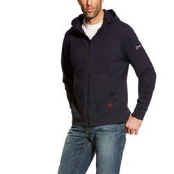 Ariat FR DuraStretch Full Zip Hoodie - Navy flame, resistant, retardant, frc, hood