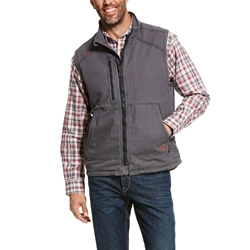 Ariat FR Duralight Stretch Canvas Vest flame, resistant, retardant, frc, full, zip, hood, hooded, iron, grey, gray