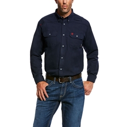 Ariat FR Featherlight Work Shirt - Navy flame, fire, resistant, frc, retardant, long sleeve, button down