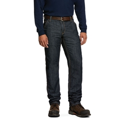 Ariat FR M4 Relaxed Duralight Stretch Workhorse Straight Leg Jean flame, resistant, retardant, demin, rinse, wash, utility, light, weight, stackable