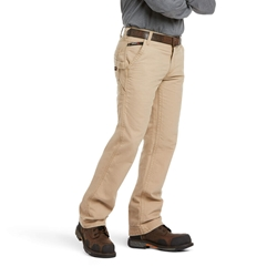 Ariat FR M4 Relaxed Workhorse Bootcut Pant - Khaki flame, resistant, retardant, work, frc, tan, brown, beige