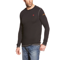 Ariat FR Polartec Base Layer Tee - Black flame, resistant, retardant, frc, tee, t-shirt