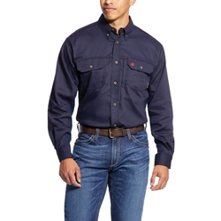 Ariat FR Solid Vent Shirt - Navy flame, fire, resistant, frc, retardant, long sleeve, button down