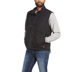 Ariat FR Workhorse Insulated Vest - Black flame, resistant, retardant, frc