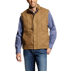 Ariat FR Workhorse Insulated Vest - Field Khaki flame, resistant, retardant, frc, tan, brown, beige