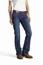 Ariat Womens FR Night Sky Mid Rise Boot Cut Jean