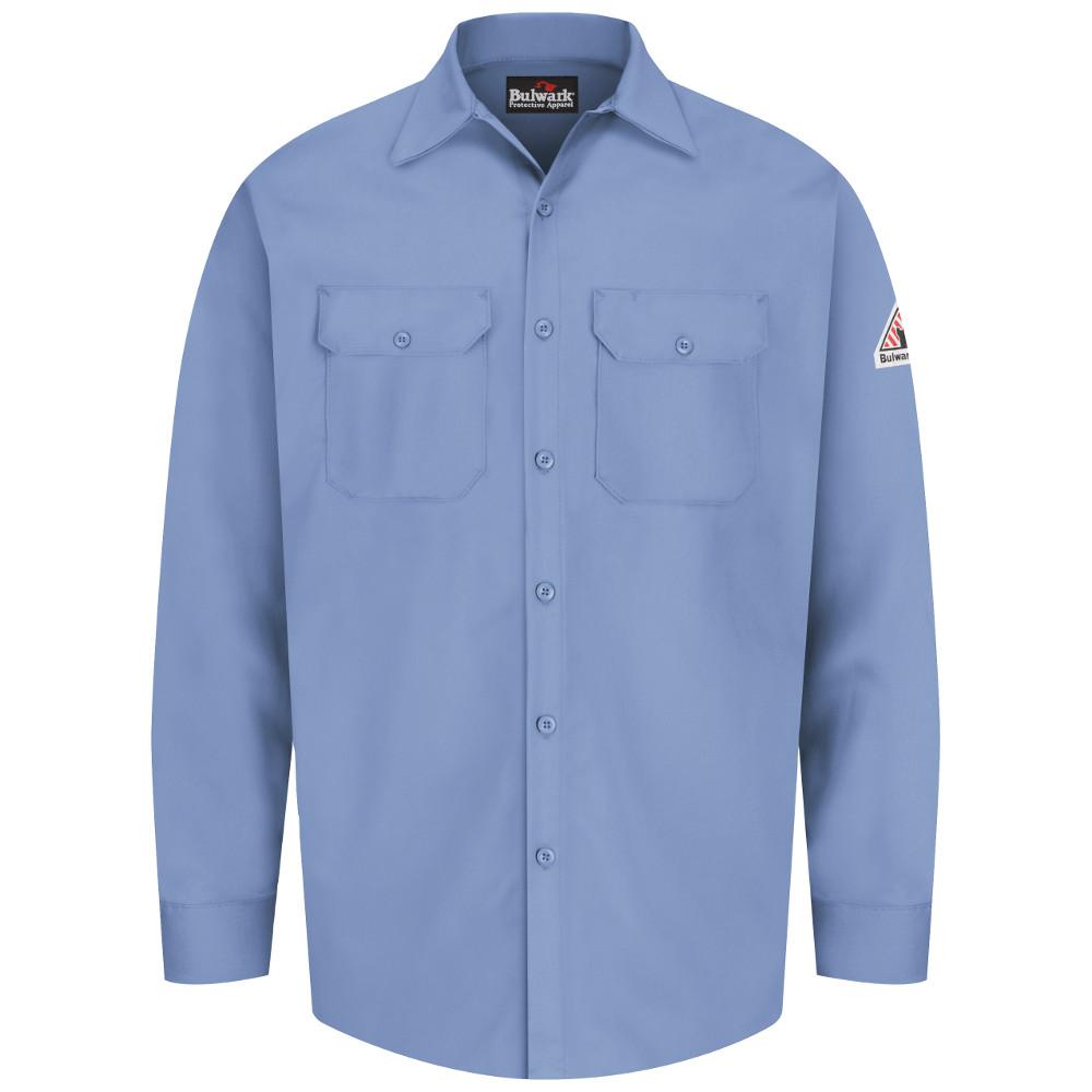 b67c61d364e9 ... Bulwark FR Button-Front Work Shirt - SEW2 ...
