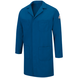 Bulwark FR Concealed Snap Front Nomex Lab Coat - Royal Blue flame, resistant, retardant, arc, flash, fire, chore, IIIA