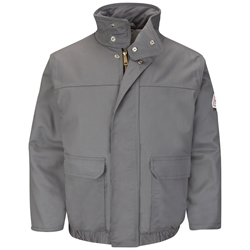 Bulwark FR Heavyweight Insulated Bomber Jacket - Gray flame, resistant, retardant, arc, fire, flash, frc, outerwear, winterwear, cold, weather, gear, ppe, grey