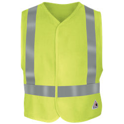 Bulwark FR Hi-Visibility Safety Vest - Class 2 hi-vis, visbility, hi-viz, high, reflective, striping, trim, tape, solid