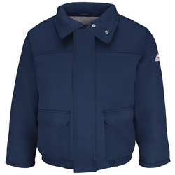 Bulwark FR Heavyweight Insulated Bomber Jacket - Navy flame, resistant, retardant, arc, fire, flash, frc, outerwear, winterwear, cold, weather, gear, ppe