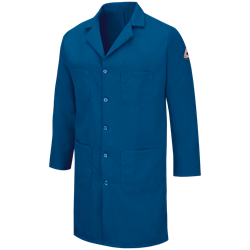 Bulwark FR Mens 6 oz. Nomex Lab Coat - Royal Blue flame, resistant, retardant, arc, flash, fire, IIIA