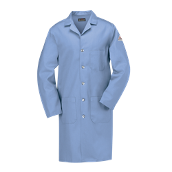 Bulwark FR Mens 7 oz. Lab Coat - Light Blue flame, resistant, retardant, arc, flash, fire