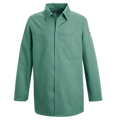 Bulwark FR Mens 9 oz. Midweight Work Coat flame, resistant, retardant, arc, flash, fire, chore, visual, green