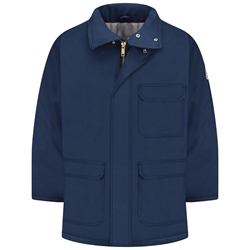 Bulwark FR Heavyweight Excel Comfortouch Insulated Deluxe Parka - Navy flame, resistant, winter, warm, coat, jacket, cold, fire, arc, flash