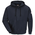 Bulwark FR Zip-Front Hooded Sweatshirt - Navy - SEH4NV