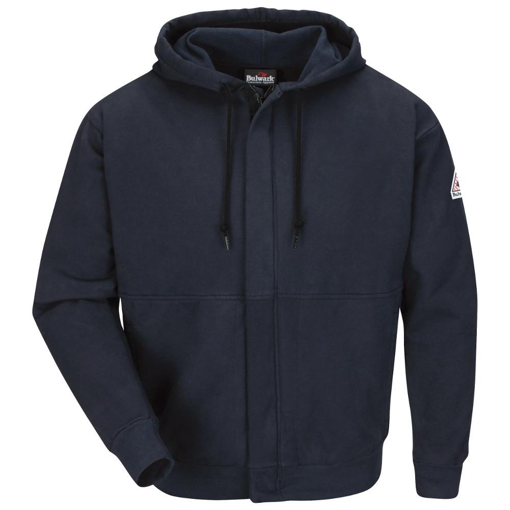 cce5e5546a48 Bulwark FR Zip-Front Hooded Sweatshirt - Navy Bulwark