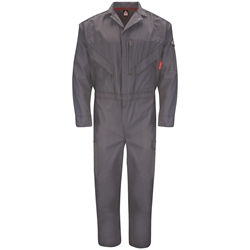 Bulwark FR iQ Series Endurance Premium Coverall - Gray flame, resistant, retardant, arc, flash, fire, ppe, cat 2, westex, ripstop, twill, grey