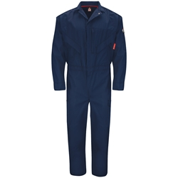 Bulwark FR iQ Series Endurance Premium Coverall - Navy flame, resistant, retardant, arc, flash, fire, ppe, cat 2, westex, ripstop, twill
