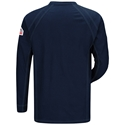 Bulwark FR iQ Series Long Sleeve Henley - Dark Blue - QT20DB