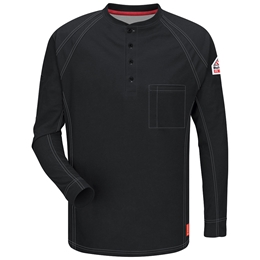 Bulwark FR iQ Series Long Sleeve Henley - Black