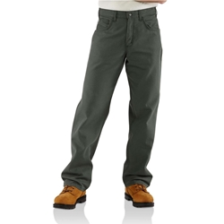 Carhartt FR Midweight Canvas Loose Fit Pant - Moss carhart, carhartt, flame, resistant, retardant, frc, mens, fire, pants, jean, green