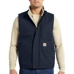 Carhartt FR Mock Neck Vest - Dark Navy flame, resistant, retardant, frc, solid, work, winter, insulated, fire, arc, flash