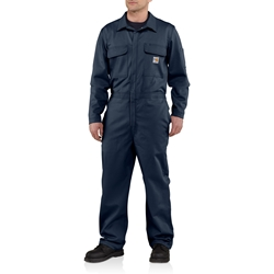 Carhartt FR Traditional 9 oz. Twill Coveralls - Dark Navy carhart, flame, resistant, retardant, frc, nomex, fire