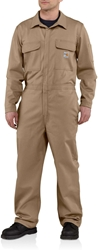 Carhartt FR Traditional 9 oz. Twill Coveralls - Khaki carhart, flame, resistant, retardant, frc, nomex, fire, tan, brown, beige, field, golden, oil and gas, electricians, arc, flash