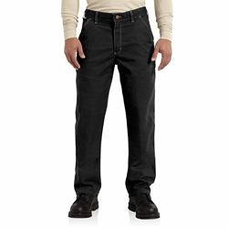 Carhartt FR Washed Duck Work Dungaree - Black carhart, carhartt, flame, resistant, retardant, frc, mens, fire, pant, canvas