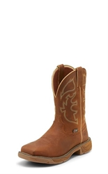 Justin Rush Rustic Tan Waterproof Steel Toe Boot